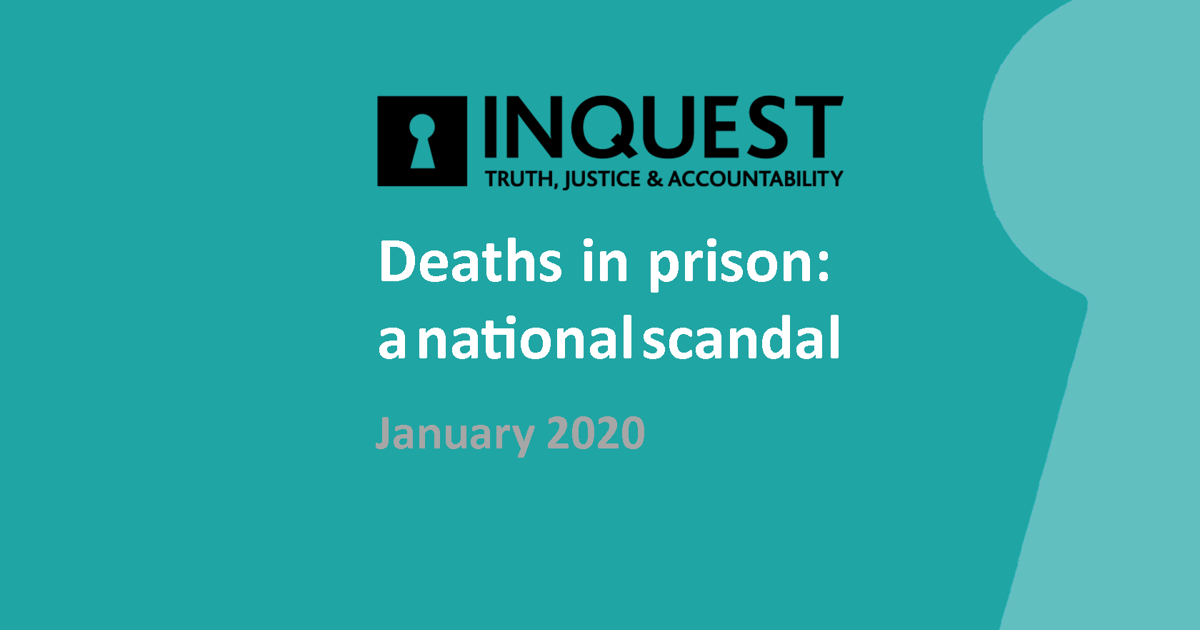 New report exposes 'national scandal' of deaths in prison caused by neglect and serious failures